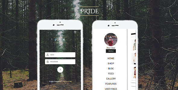Pride – Multipurpose Mobile Template