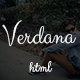 Verdana - Responsive Personal / portfolio template - ThemeForest Item for Sale