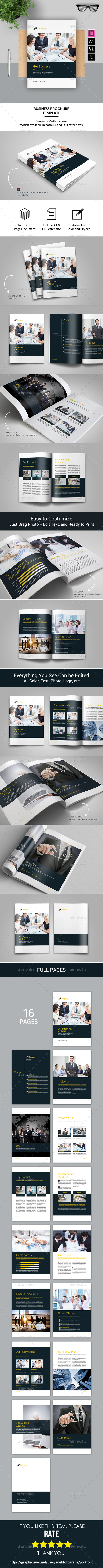 Corporate Business Brochure 16 Pages A4 + Letter - Portfolio Brochures