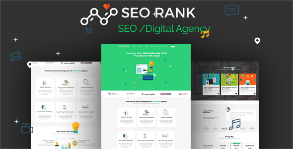Download SEO Rank - PSD Template nulled version