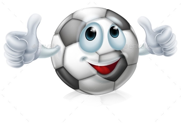 Cartoon Soccer Ball Character - Miscellaneous Characters