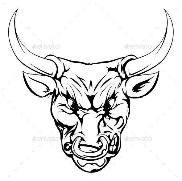 Bull Mascot Character - Animals Characters