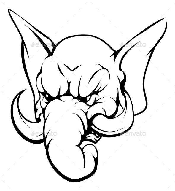 Elephant Mascot Character - Animals Characters
