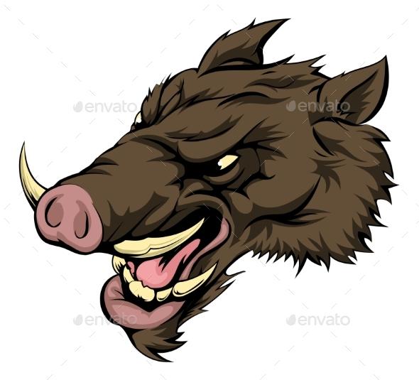 Boar Mascot Character - Animals Characters