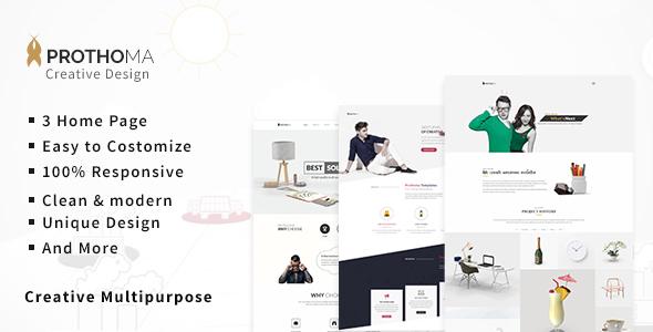 Prothoma — Multipurpose Minimal HTML Template