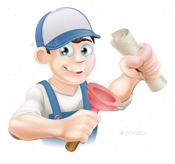 Plumber with Qualification - People Characters