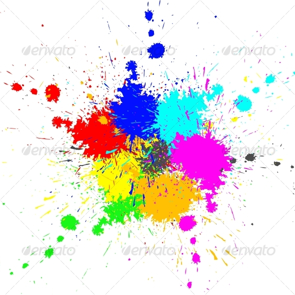 Color paint splashes background by codeanddesign for Happy color spray paint price