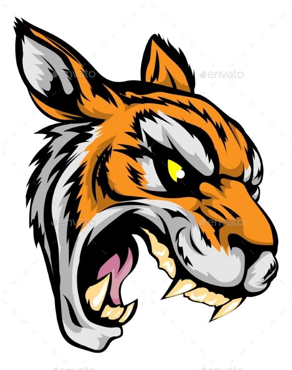 Tiger Mascot Character - Animals Characters