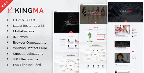 KingMa | Creative Business Onepage HTML Template - Creative Site Templates