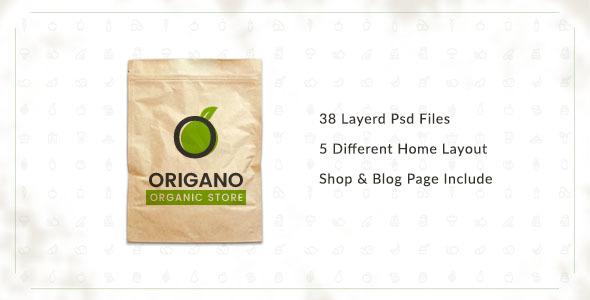 Origano -  Organic Store PSD Template - Food Retail