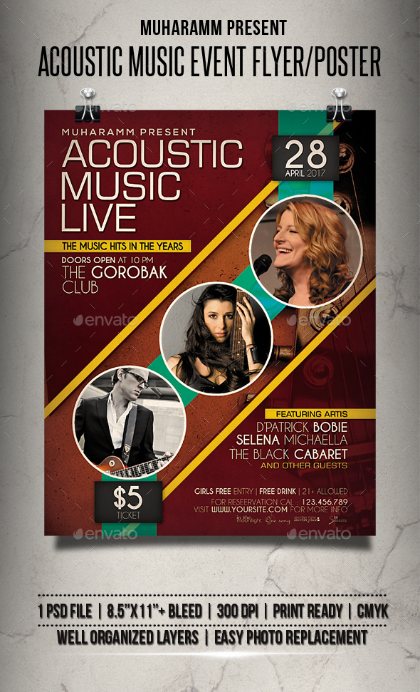 Acoustic Musuic Event Flyer / Poster - Events Flyers