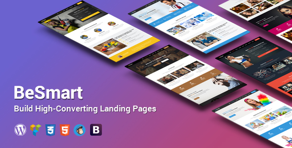 BeSmart High-Converting Landing Page WordPress Theme - Marketing Corporate
