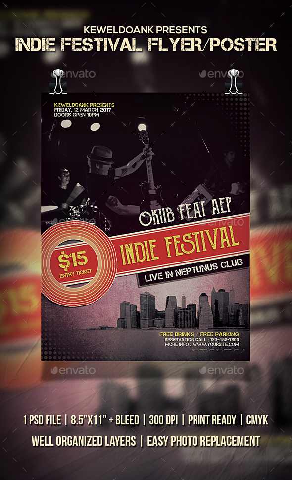 Indie Festival Flyer / Poster - Concerts Events