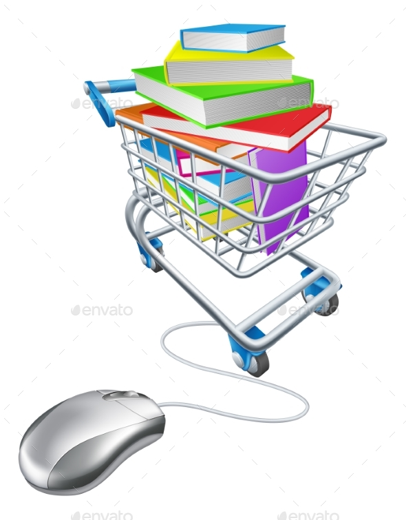 Online Education or Internet Book Shopping - Miscellaneous Vectors