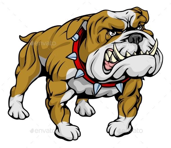 Bulldog Clipart Illustration - Animals Characters