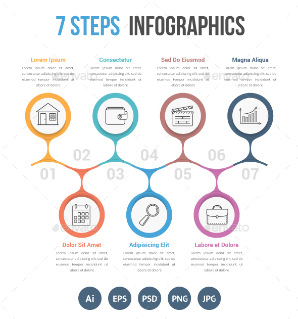 Seven Steps Infographics - Infographics