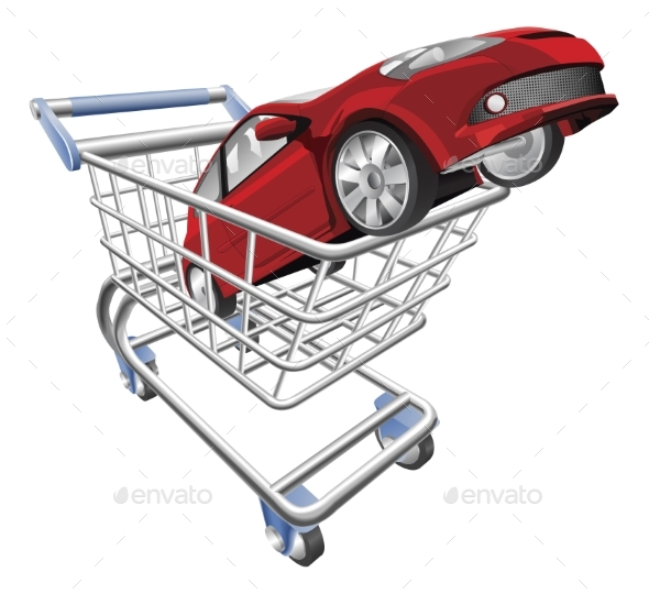 Car Shopping Cart Concept - Man-made Objects Objects