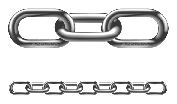 Metal Chain Links Illustration - Man-made Objects Objects