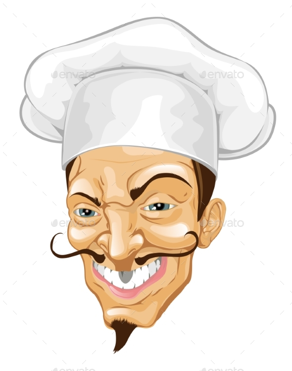 Cartoon Chef Illustration - People Characters