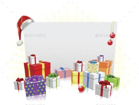 Christmas Presents and Sign Concept - Christmas Seasons/Holidays