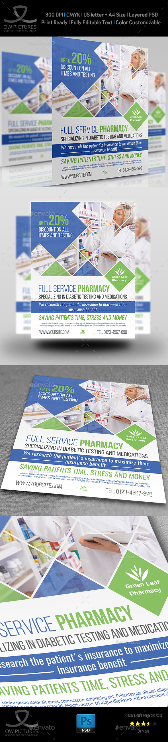 Pharmacy Flyer Template Vol.4 - Commerce Flyers