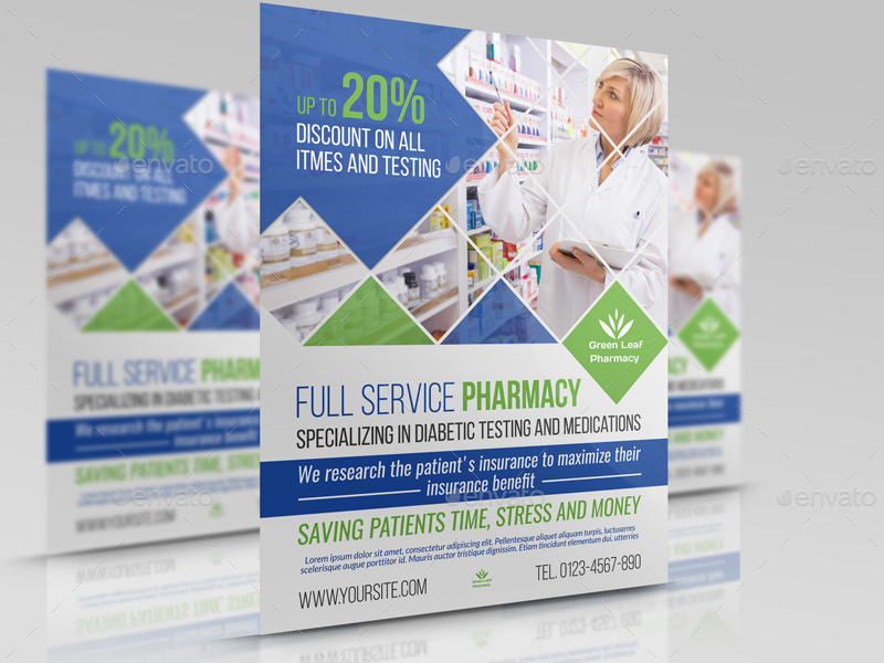 Pharmacy Flyer Template Vol4 By Owpictures Graphicriver