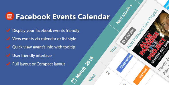 Facebook Events Calendar For Drupal - CodeCanyon Item for Sale