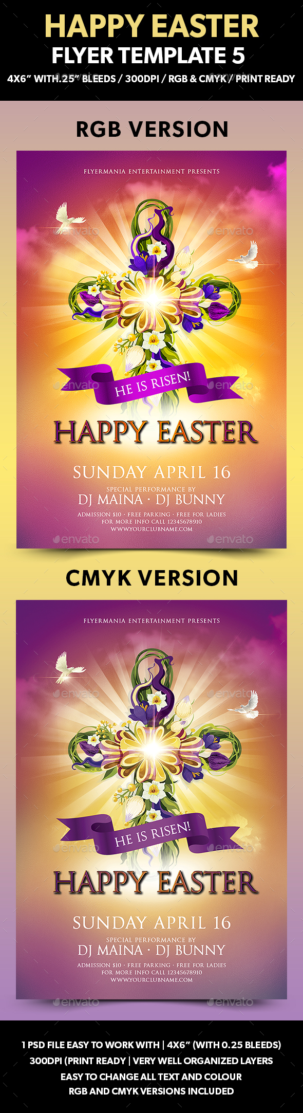 Happy Easter Flyer Template 5 - Flyers Print Templates