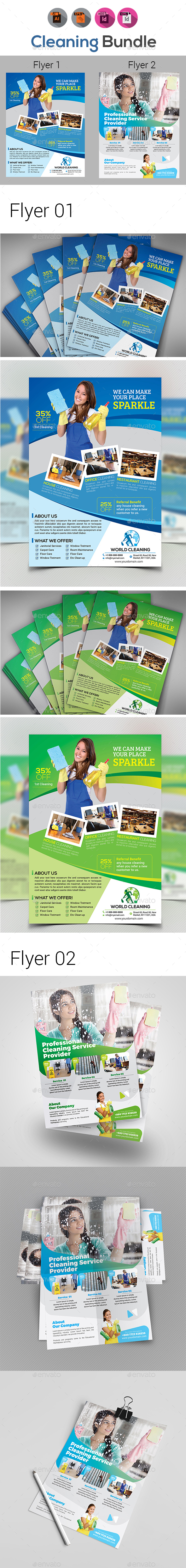 Cleaning Service Flyers - Commerce Flyers