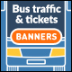 Bus Traffic Flat Banners - GraphicRiver Item for Sale