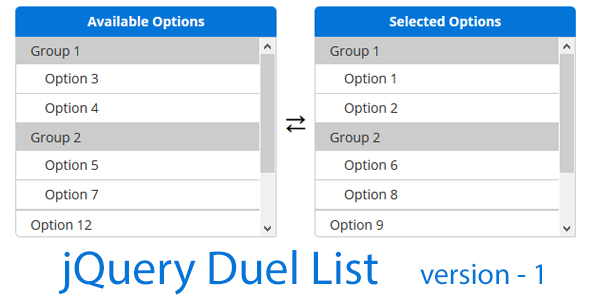 jQuery Dual List - CodeCanyon Item for Sale