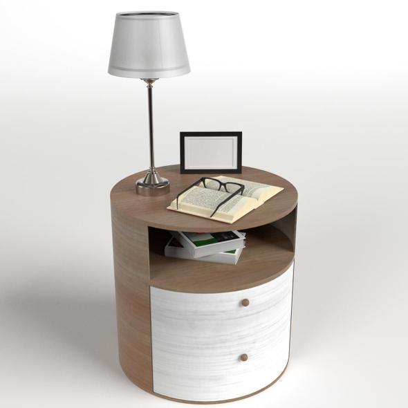 Bedside Table Set 6 - 3DOcean Item for Sale