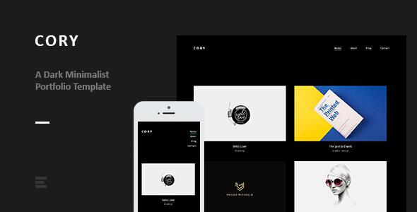 Cory – Dark Minimalist Portfolio Template