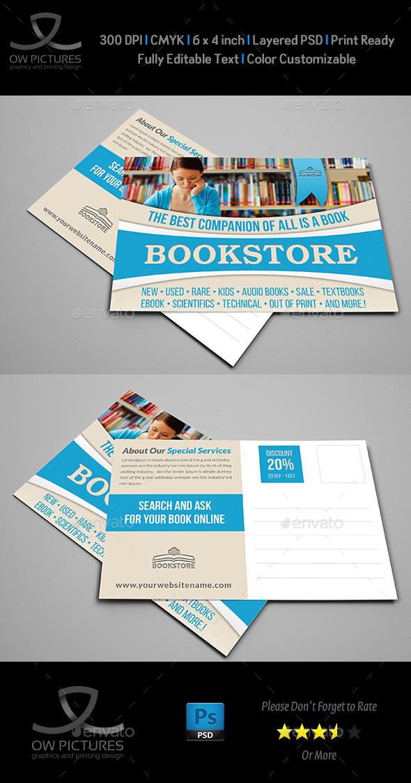 Bookstore Postcard Template - Cards & Invites Print Templates