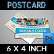 Bookstore Postcard Template - GraphicRiver Item for Sale