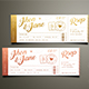 Elegant Gold Wedding Invitation Ticket