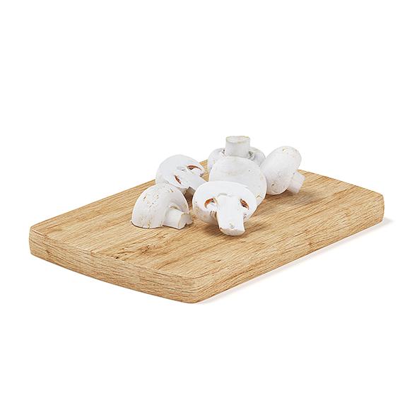 Sliced Mushrooms on Wooden Board - 3DOcean Item for Sale