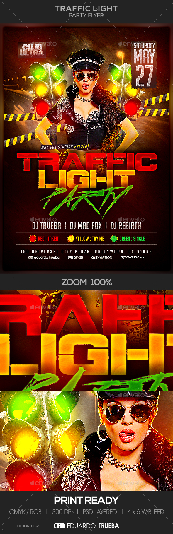 Traffic Light Party Flyer - Clubs & Parties Events