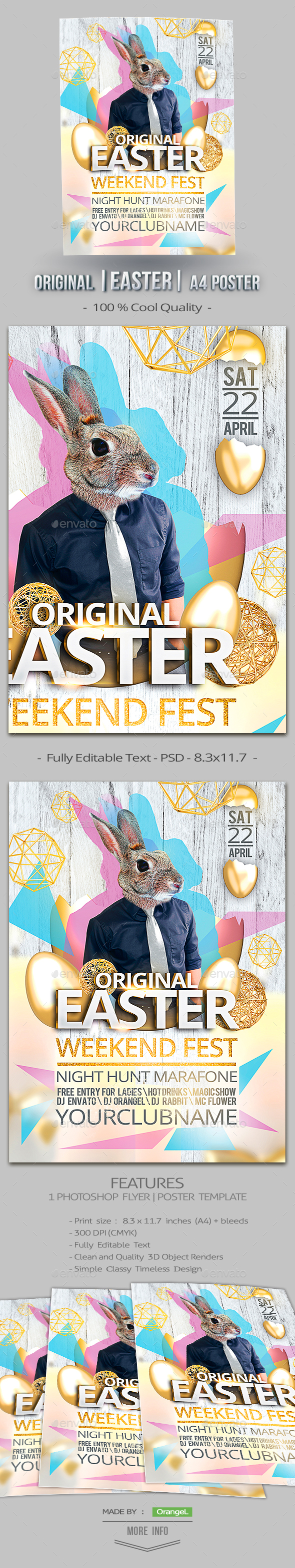 Original Easter A4 Poster - Events Flyers