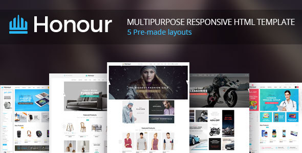 Honour - Responsive Multipurpose E-Commerce HTML5 Template