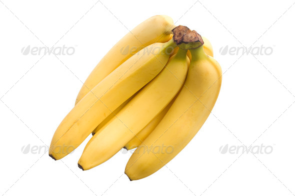 bananas isolated on white background - Stock Photo - Images