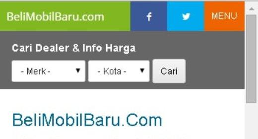 Header mobile web