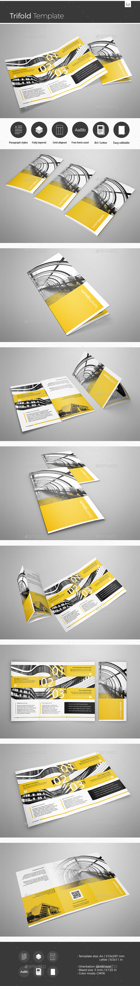 Trifold Template - Brochures Print Templates