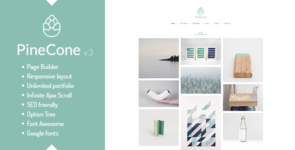 PineCone - Creative Portfolio and Blog for Agency