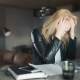 Irritated Businesswoman Cancelling Plan And Crumpling Paper