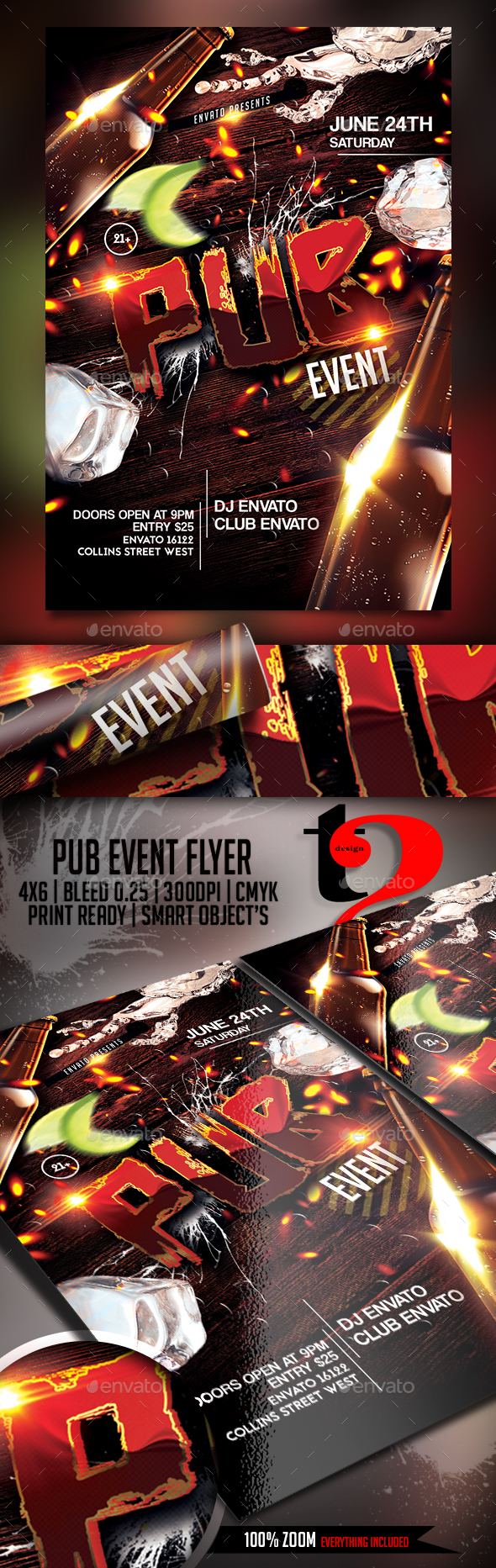 Pub Event Flyer Template - Clubs & Parties Events