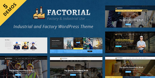 Factorial : Industrial and Engineering WordPress Theme - Business Corporate