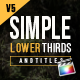 Simple Lower Thirds For FCPX - VideoHive Item for Sale