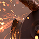 Circular Angle Grinder on Metal - VideoHive Item for Sale