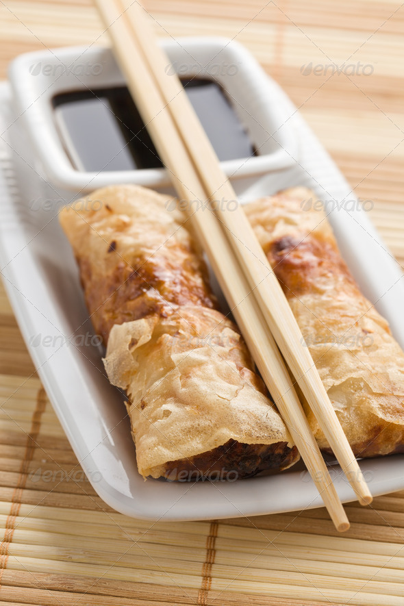spring rolls - Stock Photo - Images